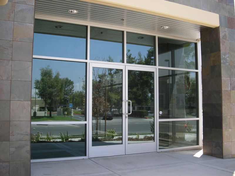 Aluminum glass swing doors locks and handles automatic and ada doors
